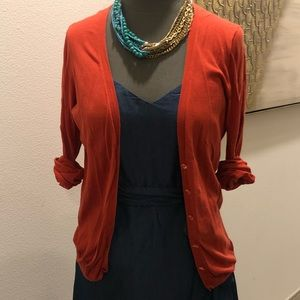 J. Crew Cotton Cardi w/ Beaded Buttons
